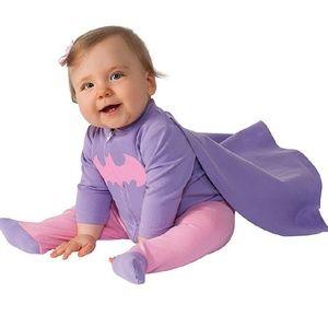 New! Batgirl DC Comics w Cape Outfit 6-12 months